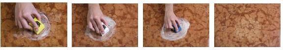 pulire marmo scuro macchiato