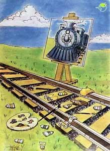 vignetta pittore e treno