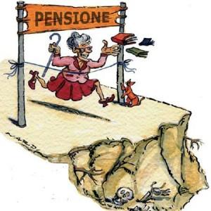 vignetta umoristica sulla pensione