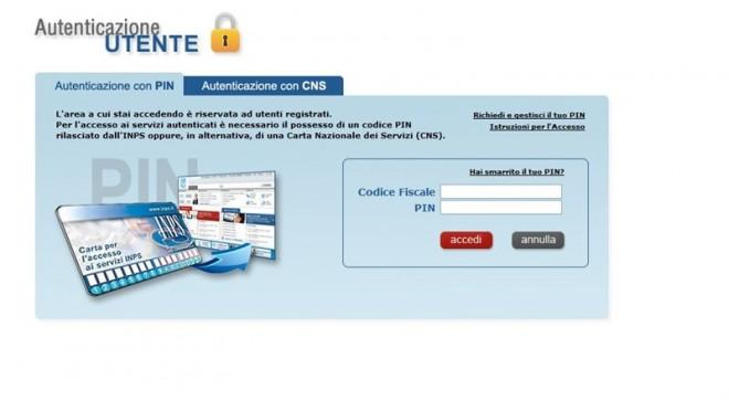 calcolare pensione sito inps login