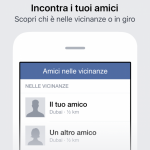 amici nelle vicinanze facebook