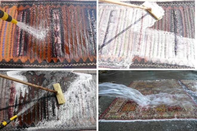 Come pulire un tappeto persiano mondofamiglia - Lavare i tappeti in casa ...