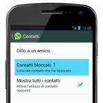 bloccare persona su whatsapp su android