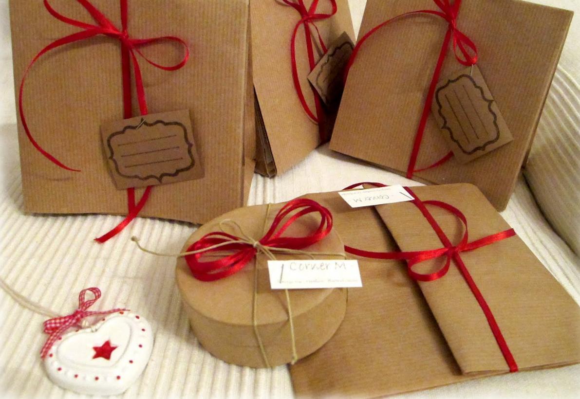 Come regalo incartare i regali fatti in casa